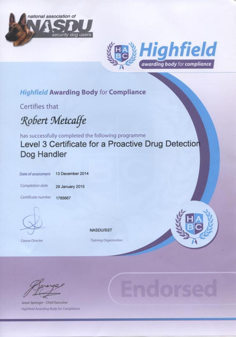 Drug Dog Detection